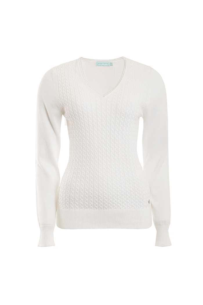 Picture of Green Lamb Brid Cable Sweater - White