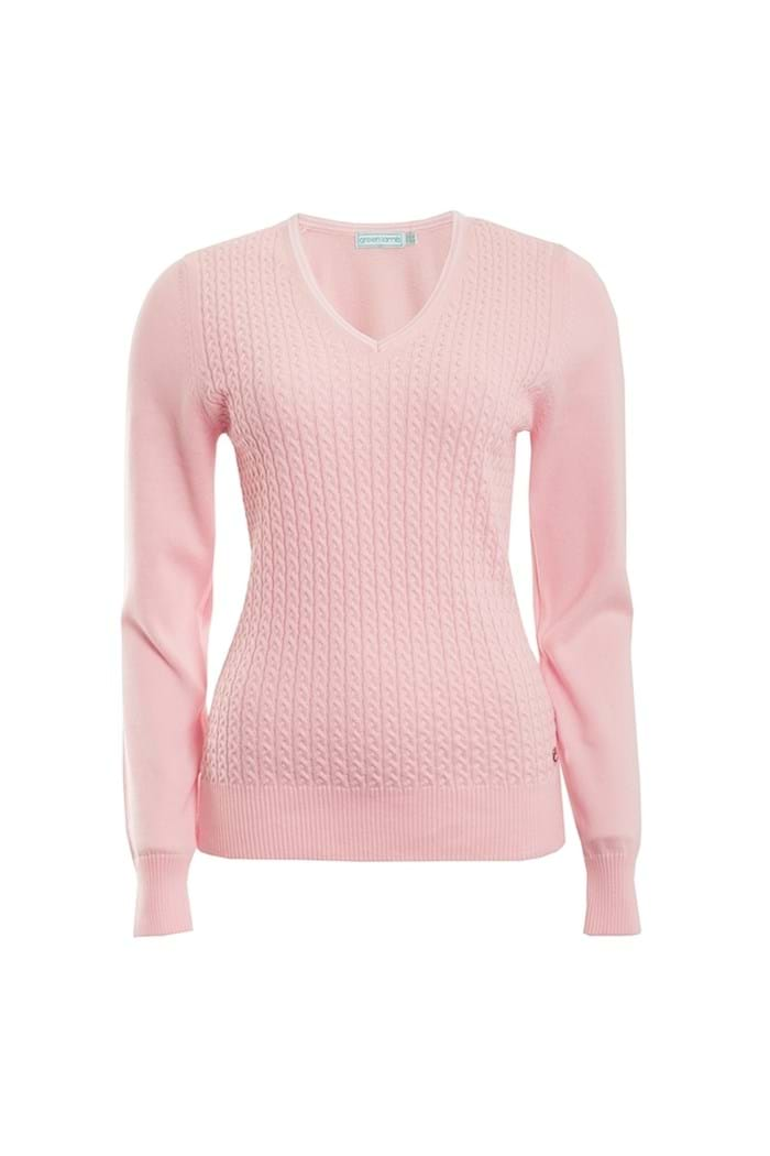 Picture of Green Lamb zns Brid Cable Sweater - Pink