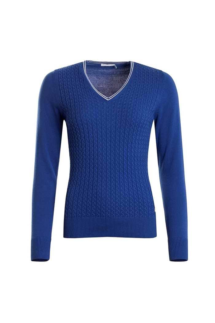 Picture of Green Lamb Brid Cable Sweater - Ocean