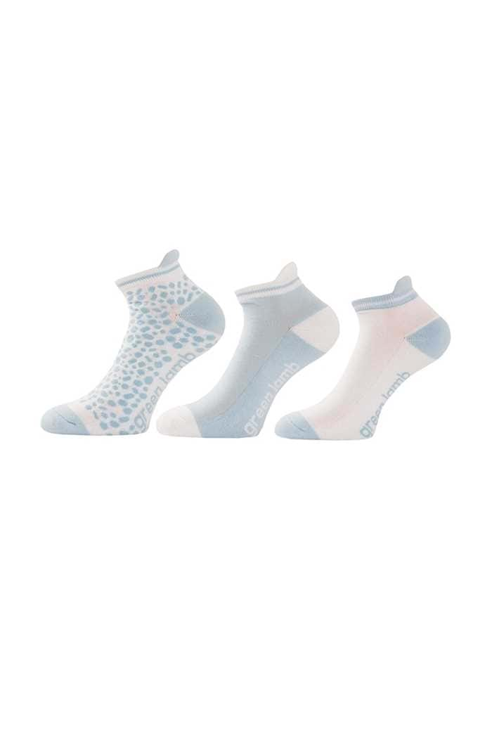 Picture of Green Lamb zns  Patterned Socks - 3 pack - Blue