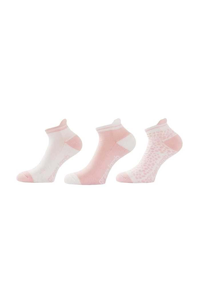 Picture of Green Lamb zns Patterned Socks - 3 pack - Pink