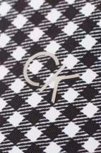 Picture of Calvin Klein ZNS Checkered Sleeveless Polo - White / Black