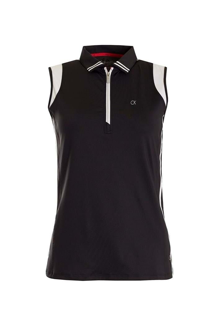 Picture of Calvin Klein zns Haven Sleeveless Polo - Black / White