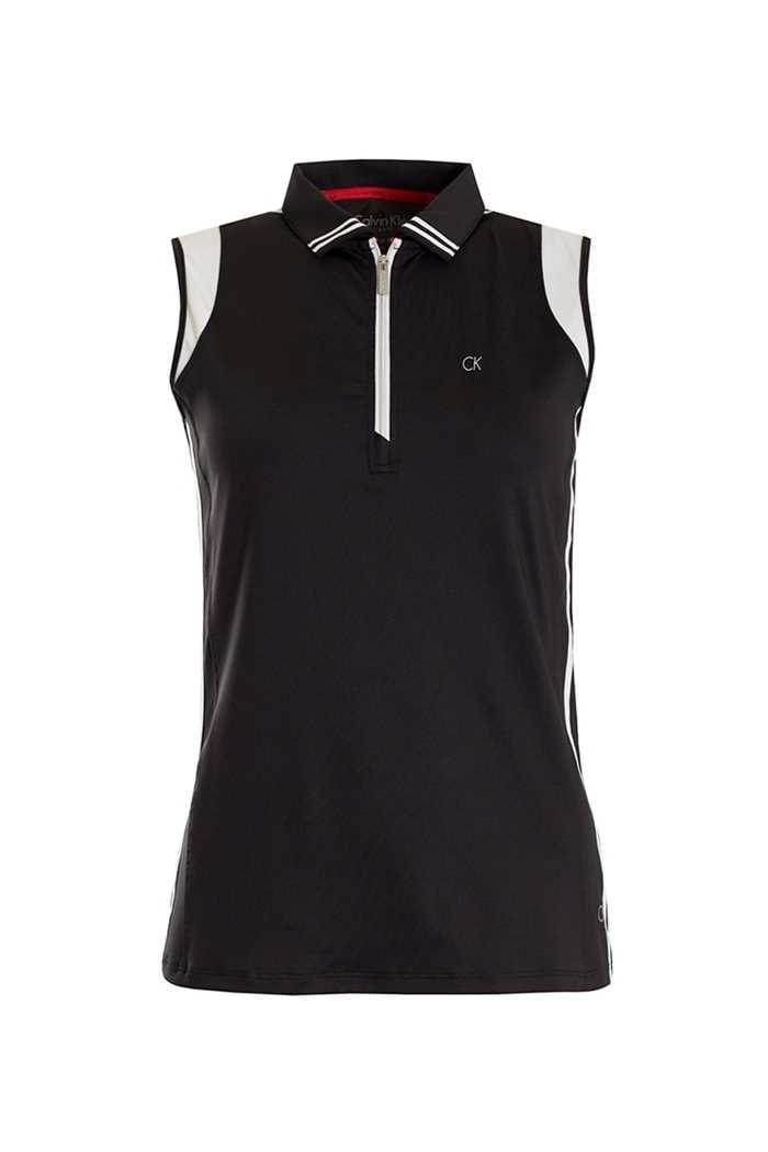 Picture of Calvin Klein zns Haven Sleeveless Polo - Black / White