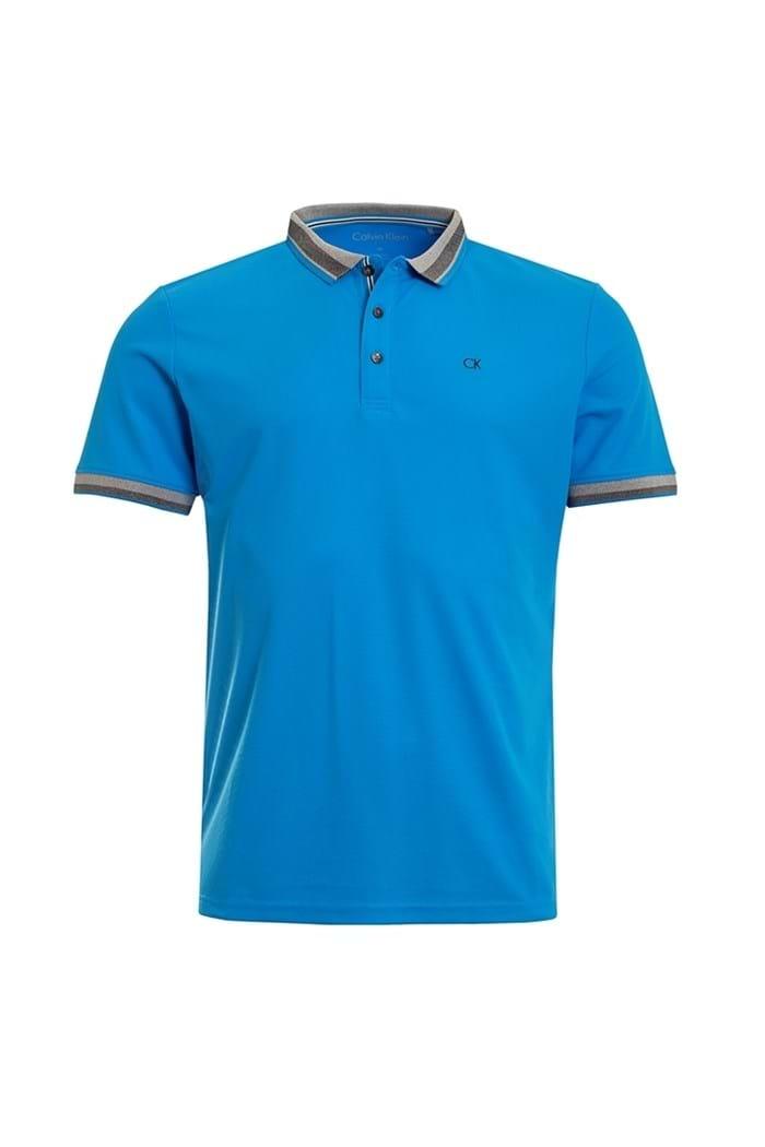Picture of Calvin Klein ZNS Spark Polo Shirt - Azure
