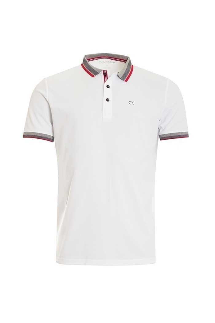 Picture of Calvin Klein ZNS Spark Polo Shirt - White / Red