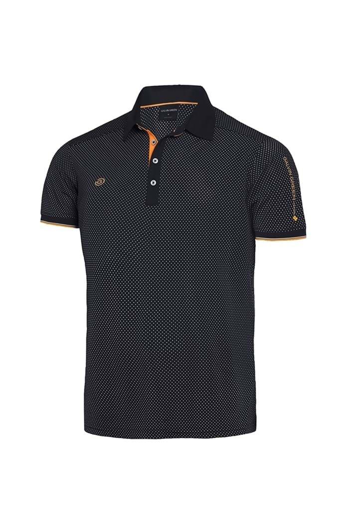 Picture of Galvin Green ZNS Marlon V8+ Polo Shirt - Black / Orange / White