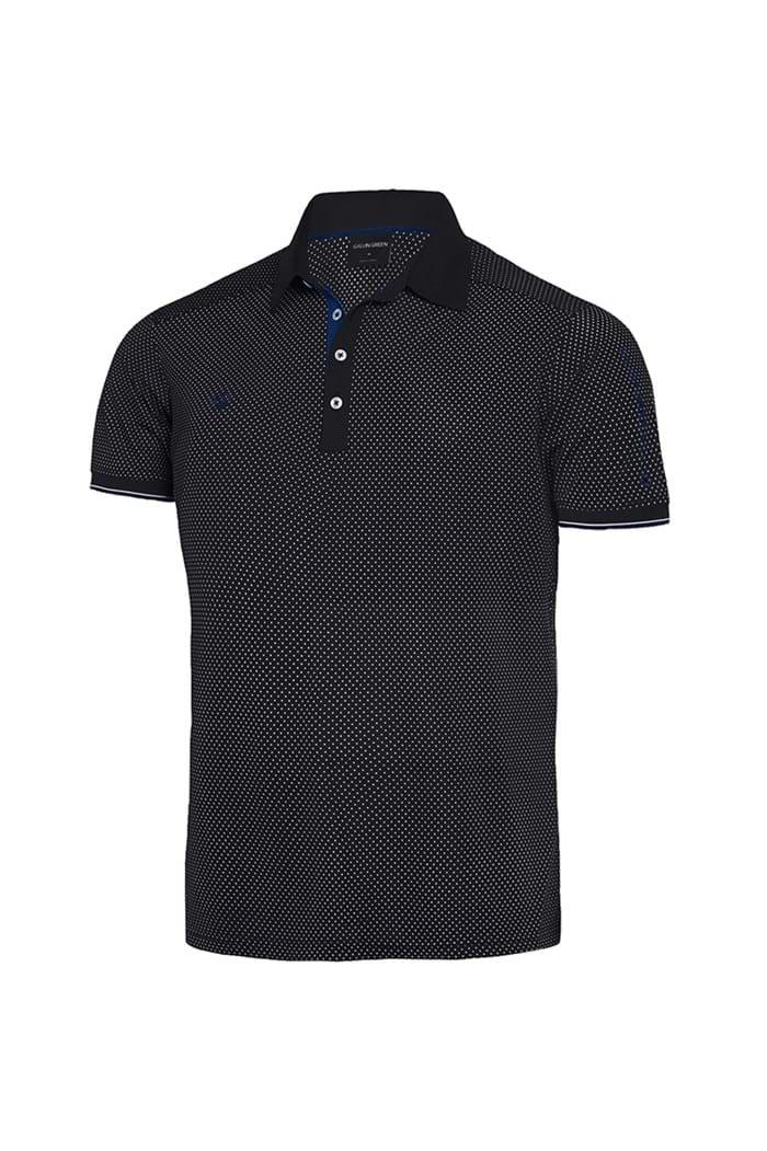 Picture of Galvin Green zns Marlon V8+ Polo Shirt - Black / Kings Blue / White