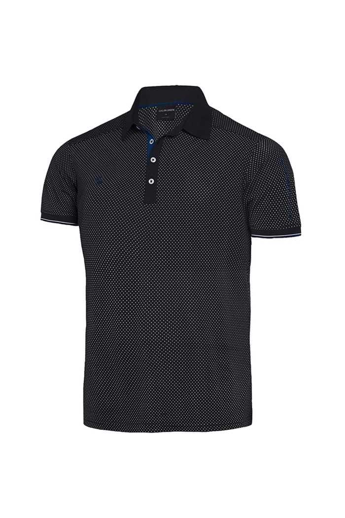 Picture of Galvin Green zns Marlon V8+ Polo Shirt - Black / Kings Blue / White