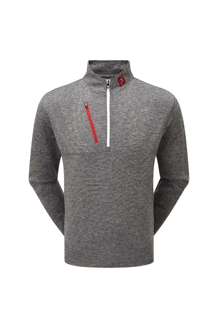 Picture of Footjoy Heather Pinstripe Chill-Out - Charcoal / White / Red