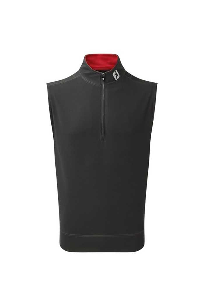 Picture of FootJoy ZNS Spun Poly 1/2 Zip Vest - Charcoal / Red