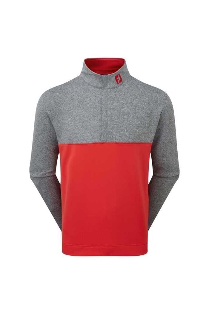 Picture of Footjoy ZNS Jersey Colourblock Chill-Out - Red / Charcoal