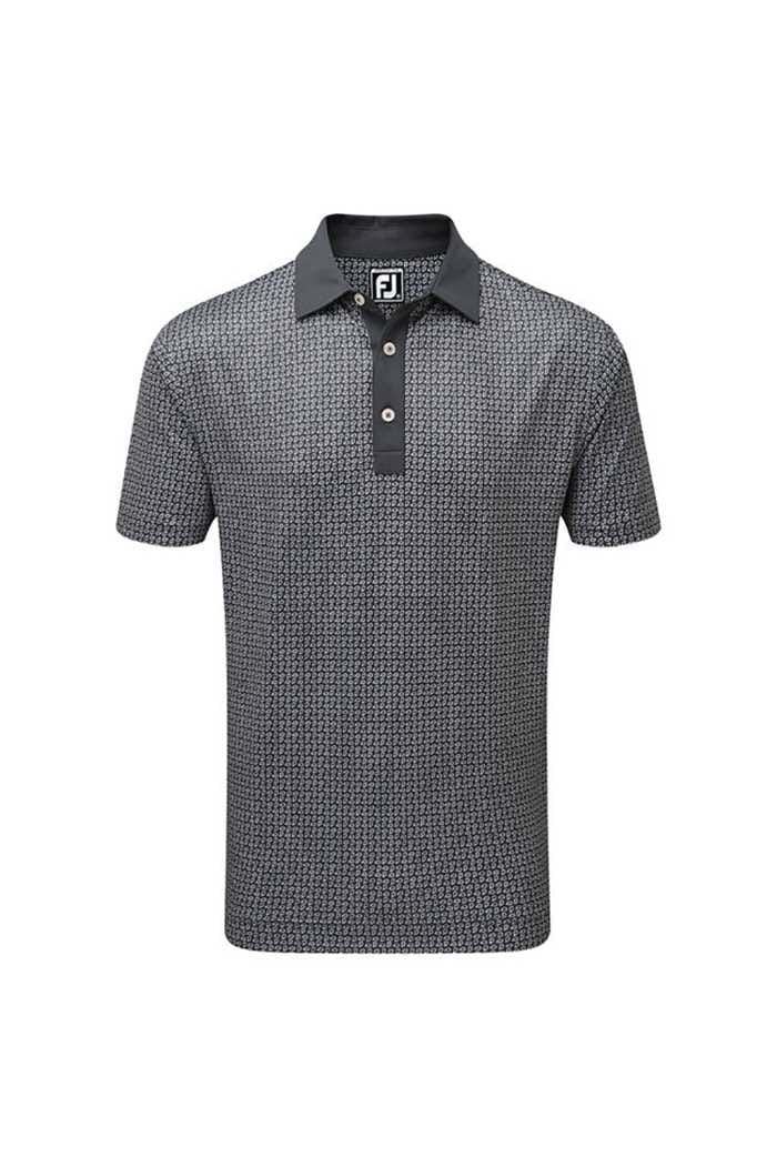Picture of FootJoy ZNS Smooth Pique Polo - Paisley Charcoal