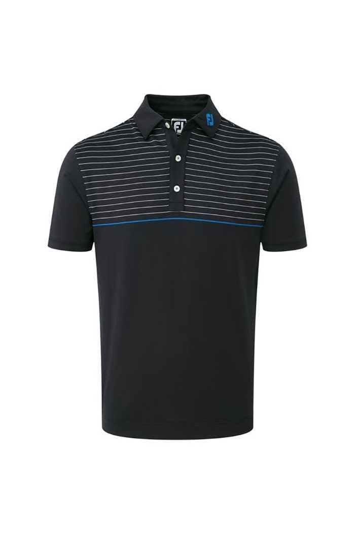 Picture of FootJoy zns Lisle Engineered Pinstripe Polo - Black