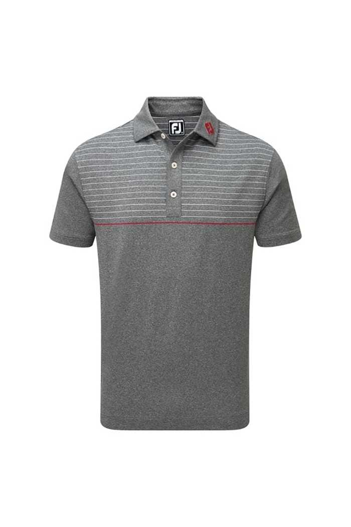 Picture of Footjoy ZNS Lisle Engineered Pinstripe Polo - Charcoal