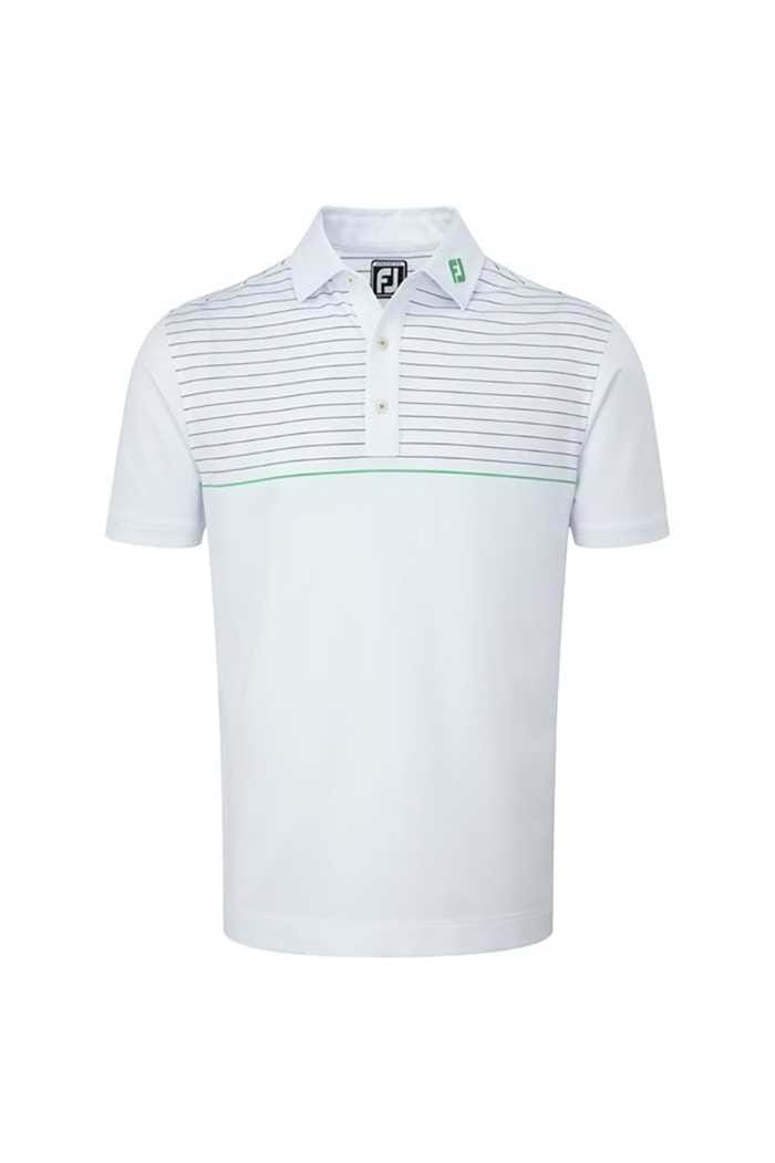 Picture of FootJoy zNS Lisle Engineered Pinstripe Polo - White