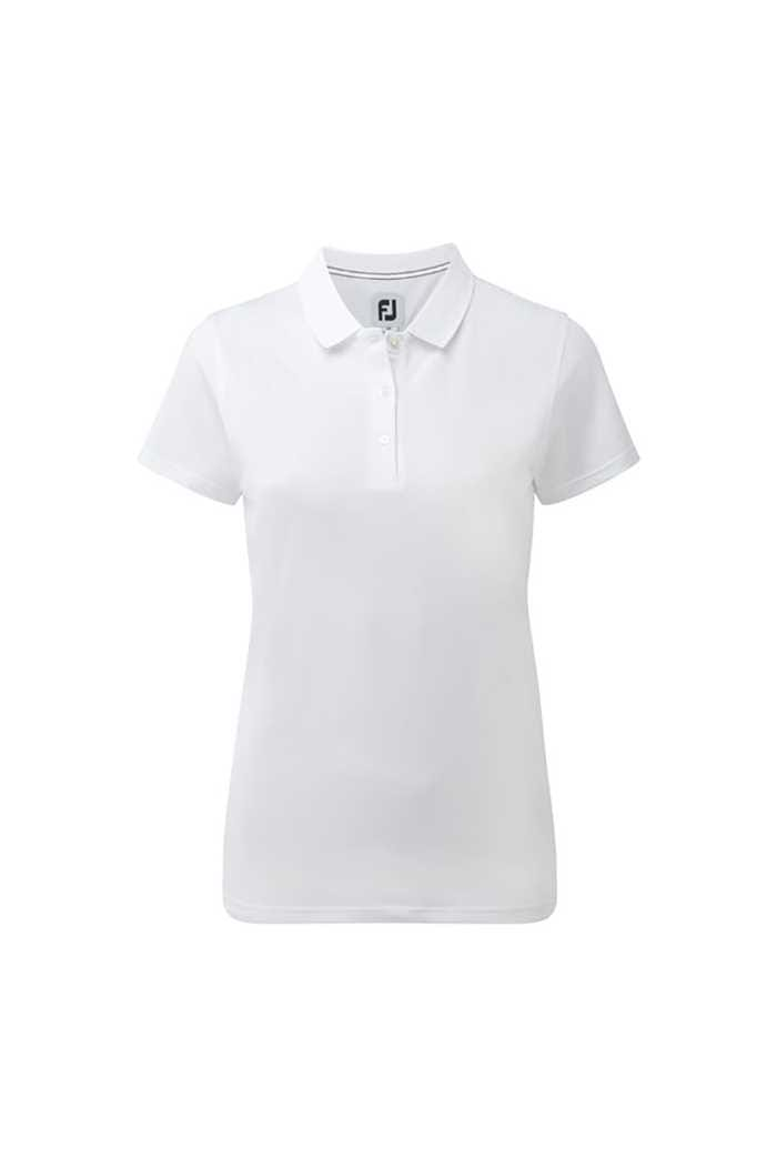 Picture of FootJoy zns Ladies Stretch Pique Polo - White