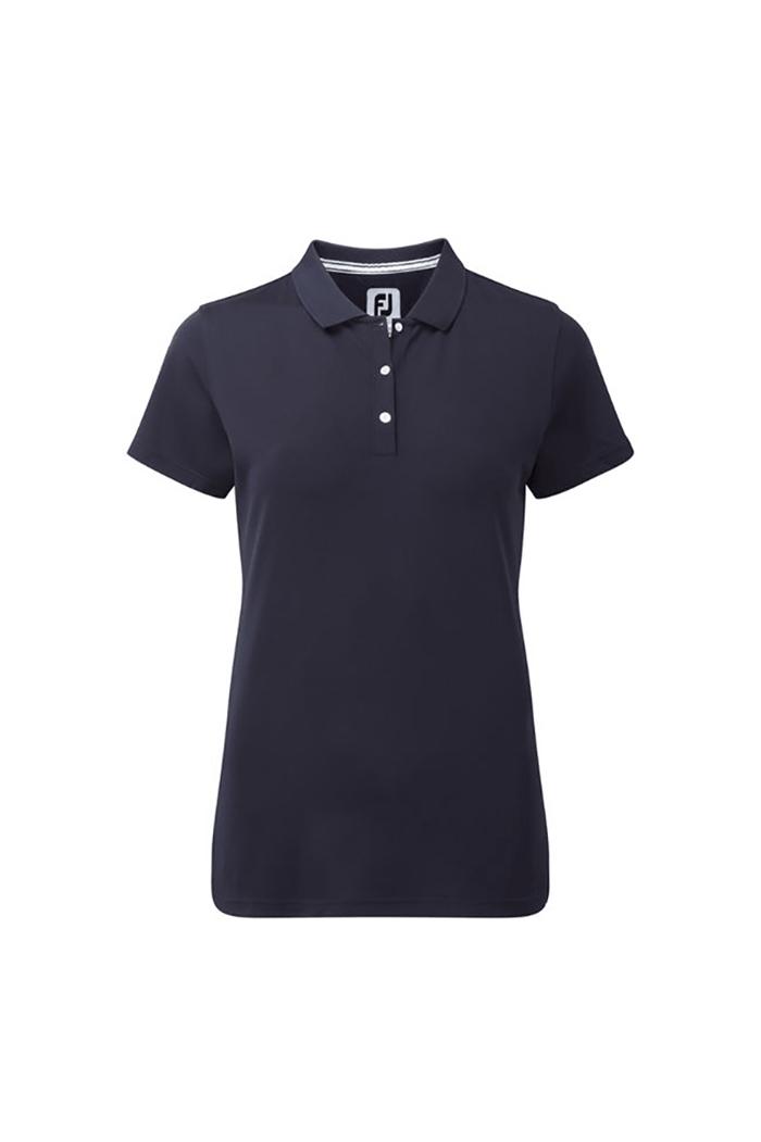 0395e845edf FootJoy Ladies Stretch Pique Polo Shirt - Navy - FootJoy - Eureka Golf
