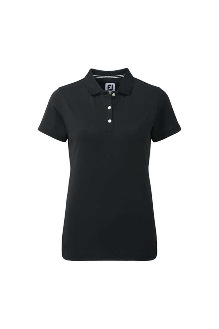 Picture of FootJoy zns Ladies Stretch Pique Polo Shirt - Black