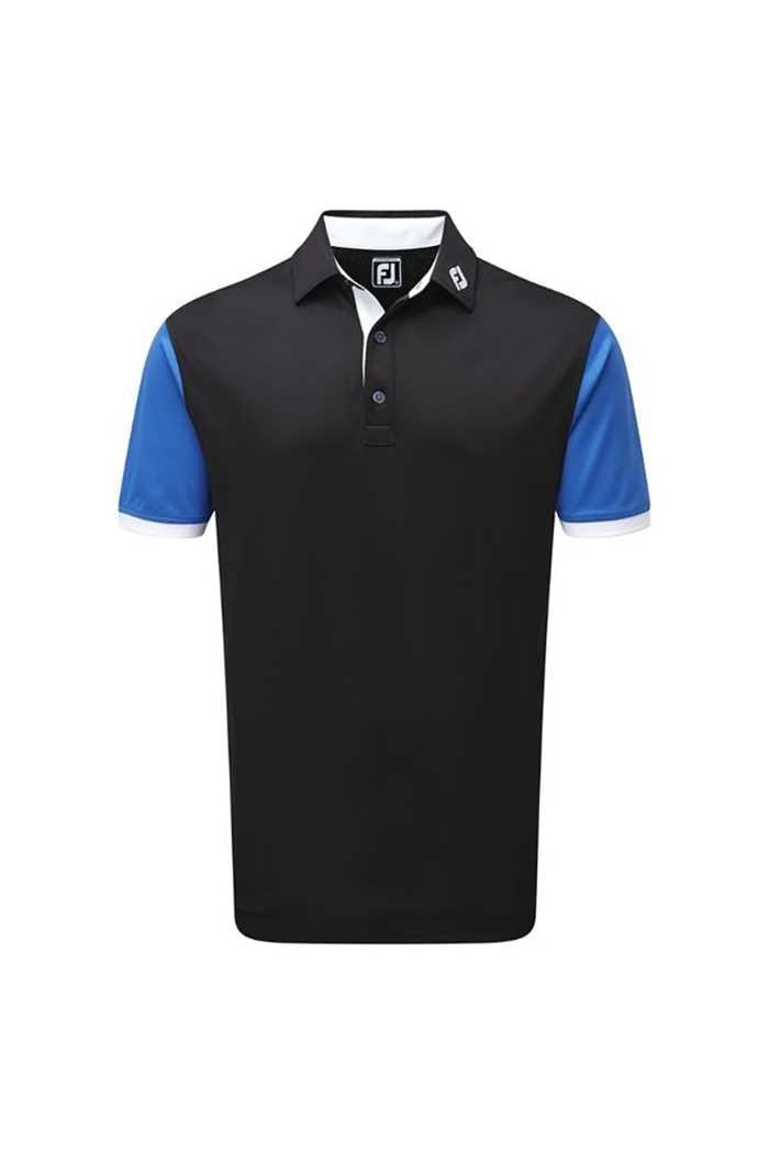 Picture of FootJoy ZNS Stretch Colour Block with Contrast Trim - Black / Cobalt / White