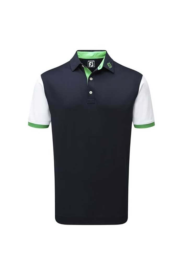 Picture of Footjoy ZNS Stretch Colour Block with Contrast Trim - Navy / White / Green