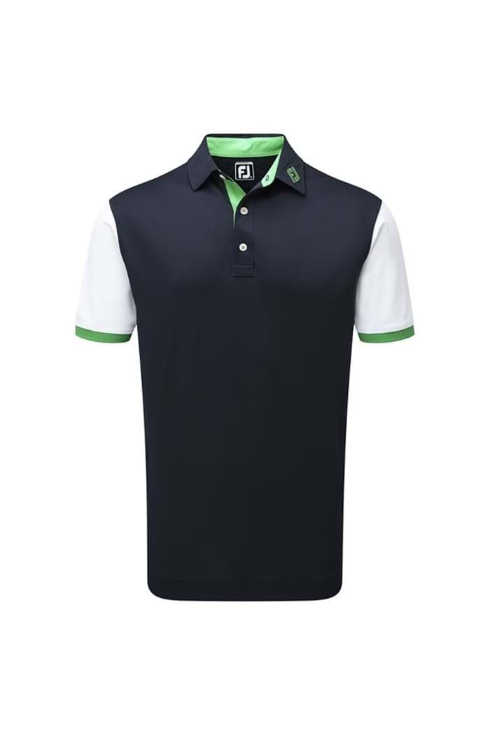 75fbd4f88 FootJoy Men s Stretch Colour Block with Contrast Trim Polo Shirt ...