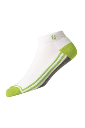 Picture of FootJoy ProDry Fashion Sport Sock - White / Grey / Lime