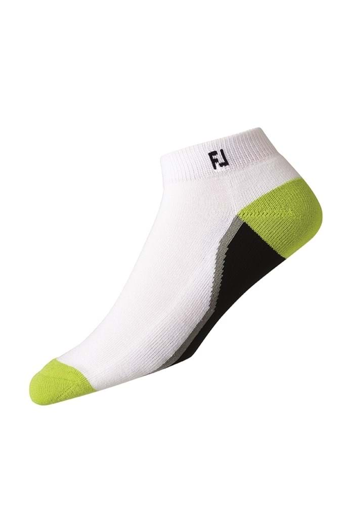 Picture of FootJoy ProDry Fashion Sport Sock - White / Black / Lime