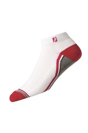 Picture of FootJoy ProDry Fashion Sport Sock - White / Red / Grey