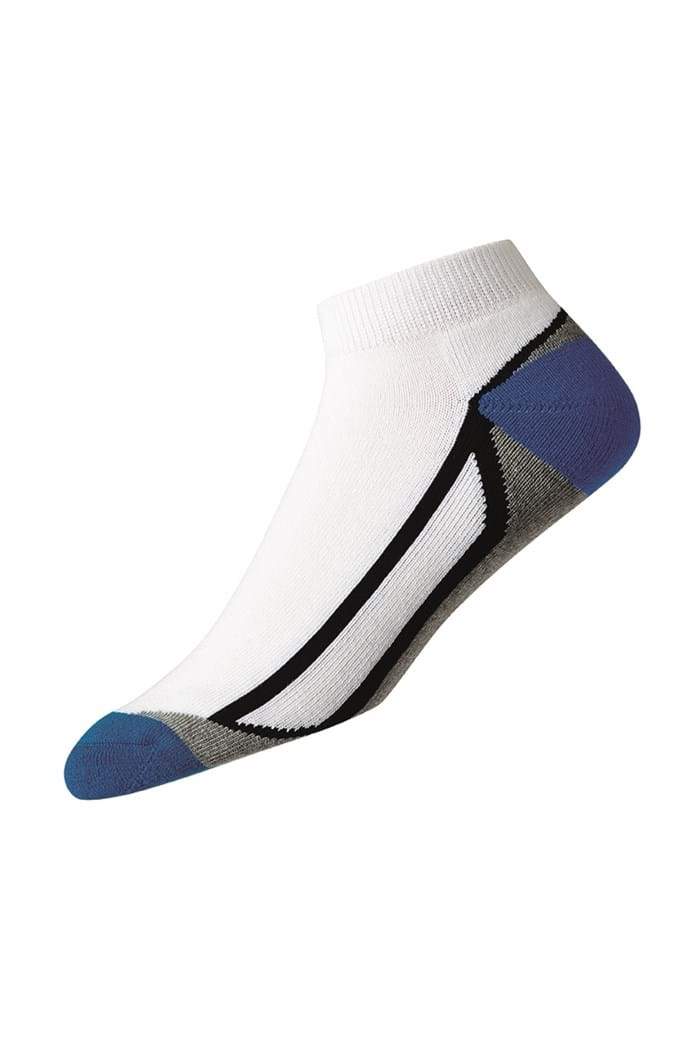 Picture of FootJoy zns ProDry Fashion Sport Sock - White / Blue / Grey / Black