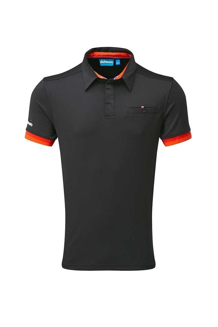 Picture of Bunker Mentality zns CMax Duo Core Tech Polo Shirt - Black