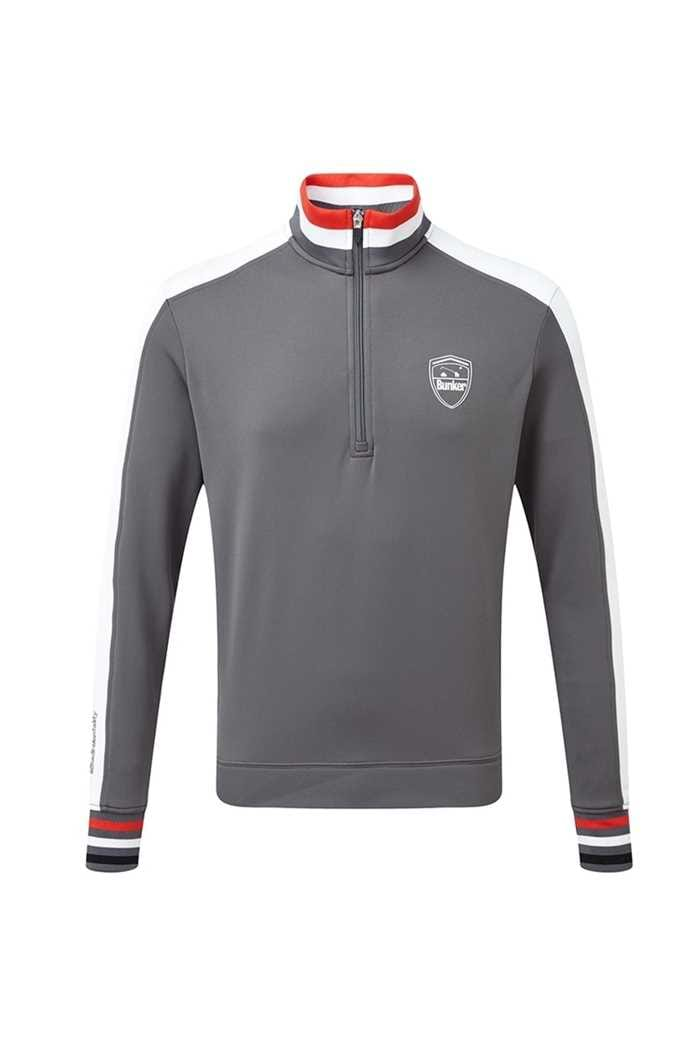Picture of Bunker Mentality ZNS Sports Stripe 1/4 Zip Sweater - Grey