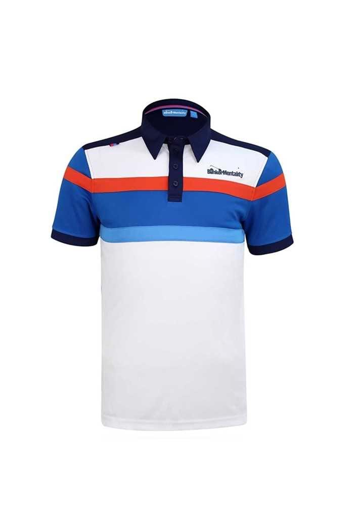 Picture of Bunker Mentality ZNS CMax Bright Stripe Tech Polo Shirt - Navy