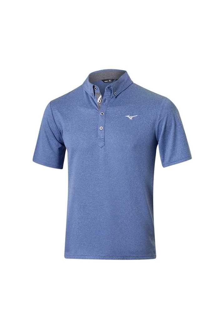 Picture of Mizuno ZNS Melange Polo Shirt - Surf Blue