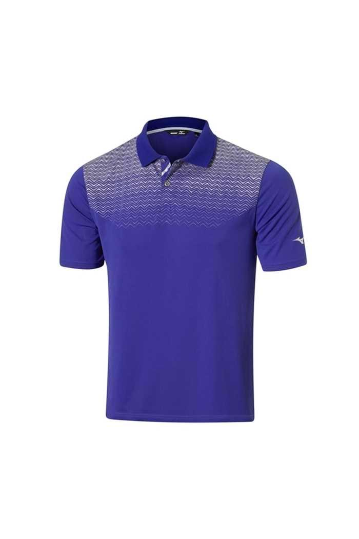 Picture of Mizuno zns Solar Cut HPP Polo Shirt - Surf Blue