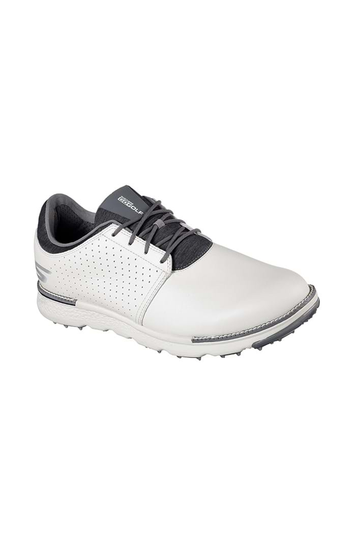Picture of Skechers Go Golf Elite 3 Approach Golf Shoes - Natural / Grey - Wide Fit