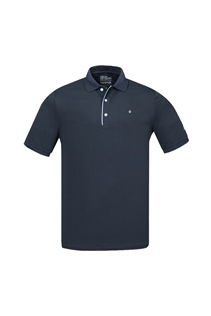 Picture of Oscar Jacobson Ivo Pin Polo Shirt - Navy / Sky 212