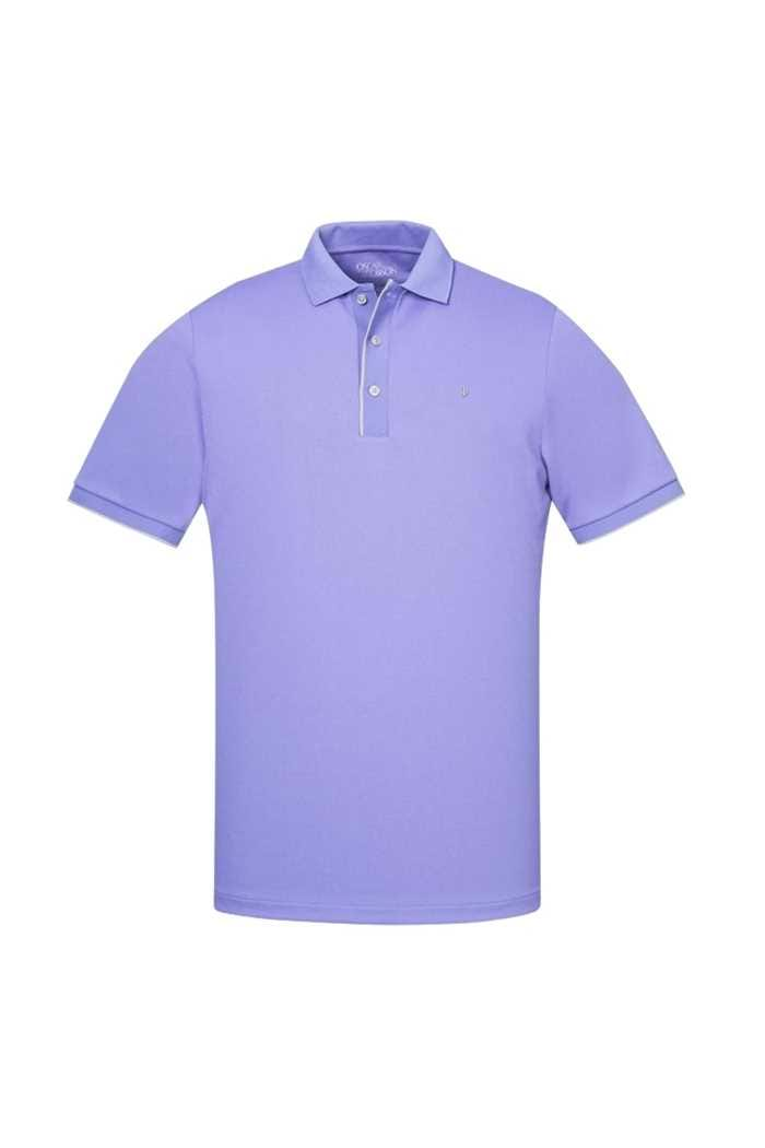 Picture of Oscar Jacobson ZNS Ivo Pin Polo Shirt - Violet / Grey 264