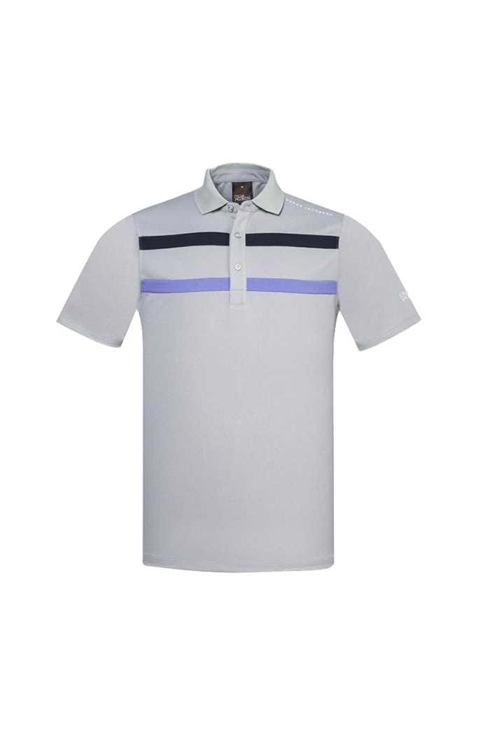 Picture of Oscar Jacobson ZNS Ace Course Polo Shirt - Grey / Violet / Navy 164