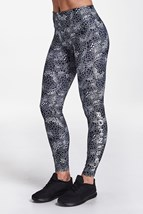 Picture of Rohnisch Flattering AOP Tights - Black Moody Moss