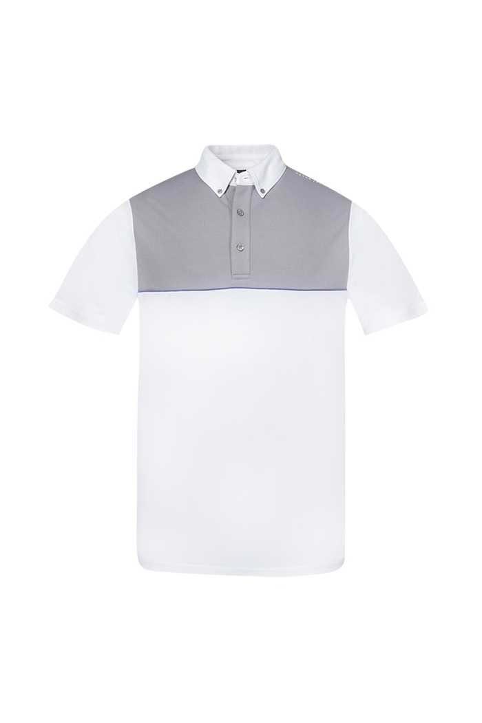 Picture of Oscar Jacobson ZNS Denver Course Polo Shirt - White / Grey 921
