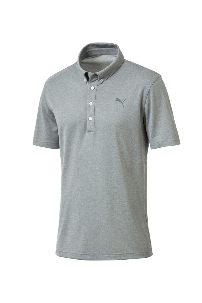 discount sale united kingdom discount Puma Golf Men's Oxford Heatehr Polo Shirt - Laurel Wreath Heather ...