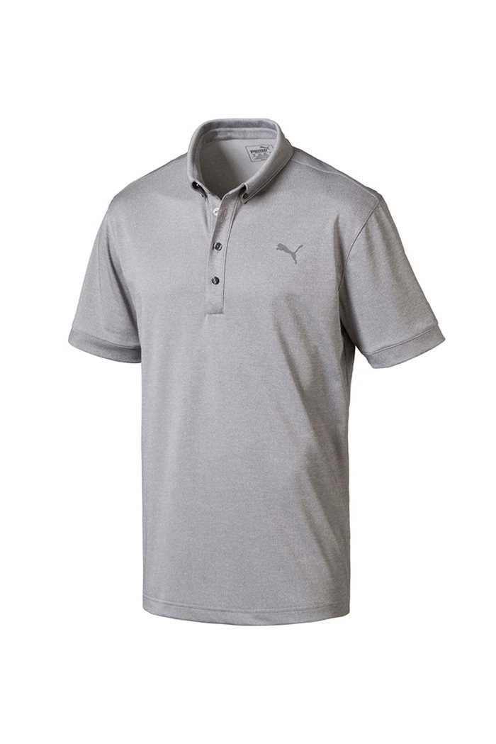 Picture of Puma ZNS Golf  Oxford Heather Polo Shirt - Quiet Shade Heather