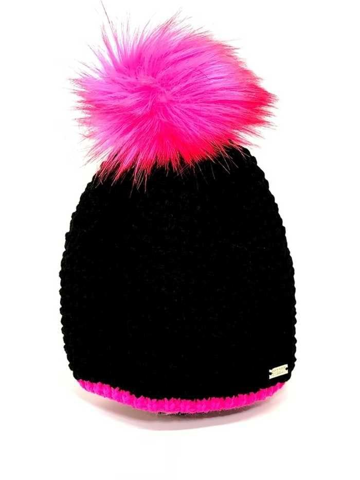 Picture of Sabbot zns Berta Pom Pom Hat - Black / Pink