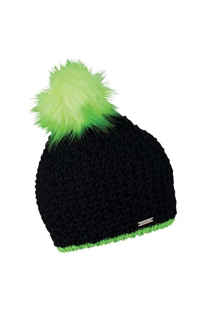 Picture of Sabbot Berta Pom Pom Hat - Black / Lime