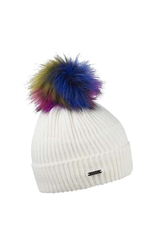 Picture of Sabbot zns Iveta Pom Pom Beanie - Cream Multi