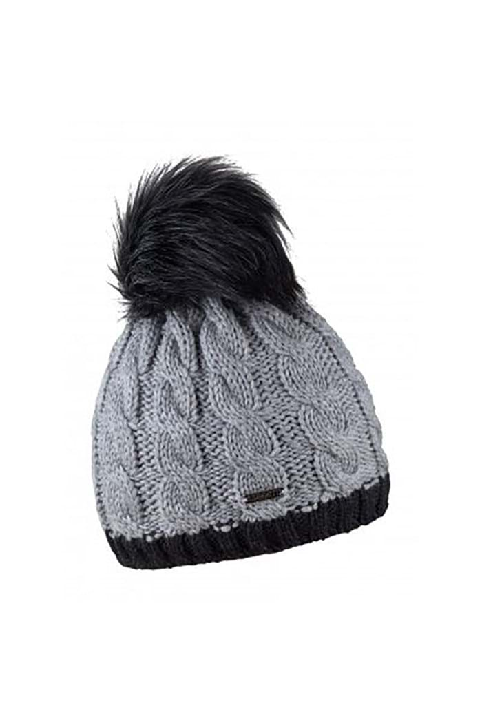 Sabbot Ladies Andrea Contrast Cable Pompom Beanie - Grey - Sabbot ... 37b9c92e41aa