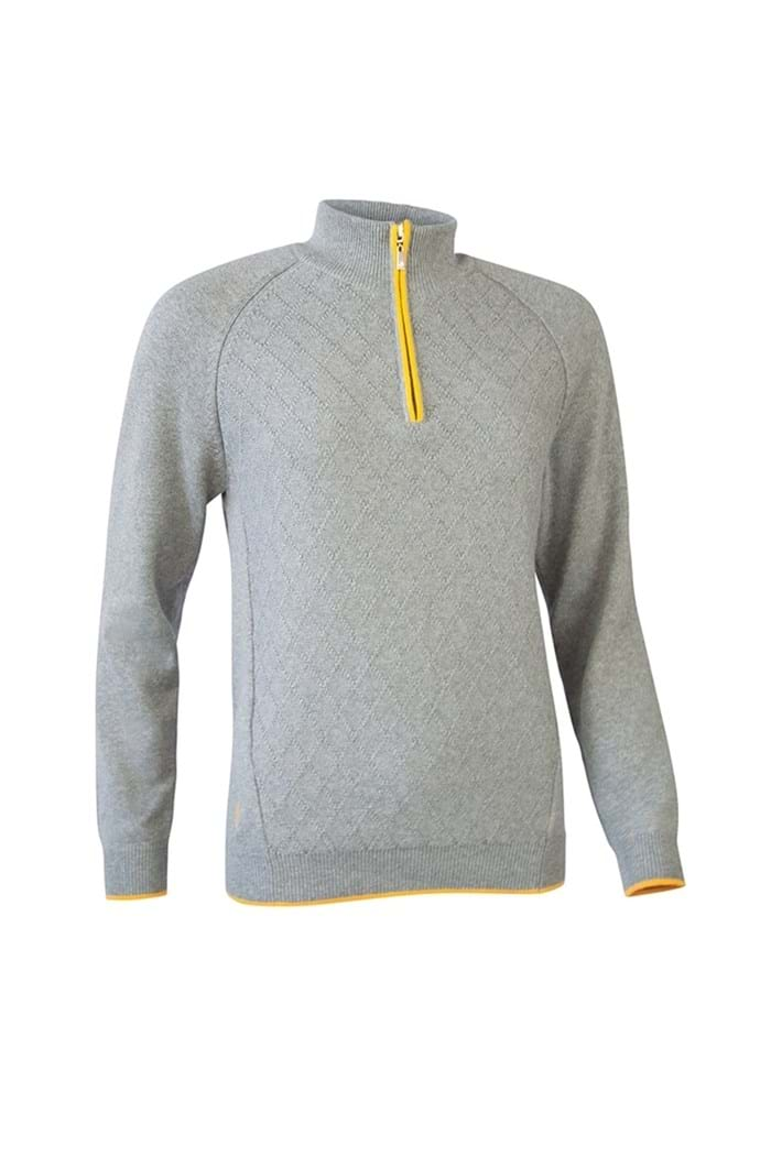 Picture of Glenmuir Heather Sweater - Mid Grey / Sunrise