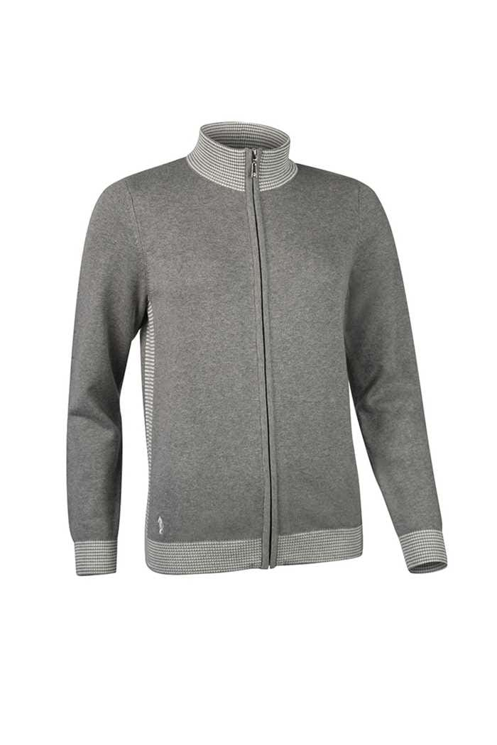 Picture of Glenmuir ZNS Bianca Cardigan - Mid Grey / White