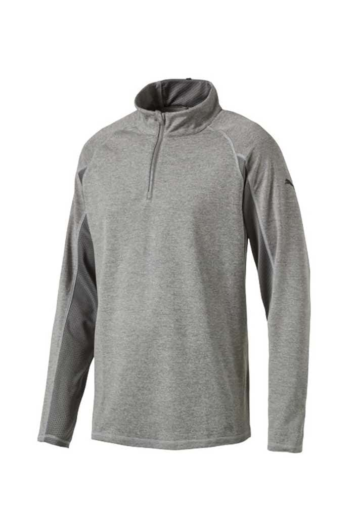 Picture of Puma  Core 1/4 Zip Golf Popover Top - Medium Heather Grey